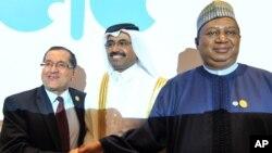 Saleh Al-Sada, Shugaban OPEC a tsakiya, Baban Sakataren OPEC Mohammed Barkindo,