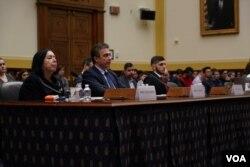 اعضای خانواده زاکا، نمازی و لوینسون در نشست کنگره آمریکا.