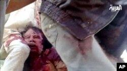 Maydka Qaddafi oo lagu Jiiday Wadooyinka Sirte