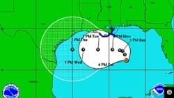 熱帶風暴戴比襲擊墨西哥灣