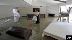 Một ngôi nhà ở thành phố Houston bị ngập nước, ngày 4/9/2017.