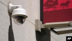 2019年5月7日旧金山金融区的安全摄像头。