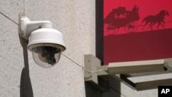 Sebuah kamera keamanan dipasang di distrik bisnis kota San Francisco, AS (foto: ilustrasi).