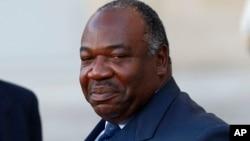 FILE - Gabon's President Ali Bongo Ondimba.