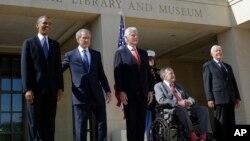 Bivši predsednici Barak Obama, Džordž Buš mlađi, Bil Klinton, Džordž Buš stariji i Džimi Karter (arhivski snimak)