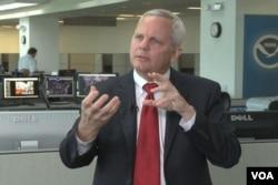 馬里蘭州的全國海洋和大氣研究中心主管本.凱格(視頻截圖)