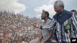 Nelson Mandela u vreme kada je bio predsednik Afričkog nacionalnog kongresa