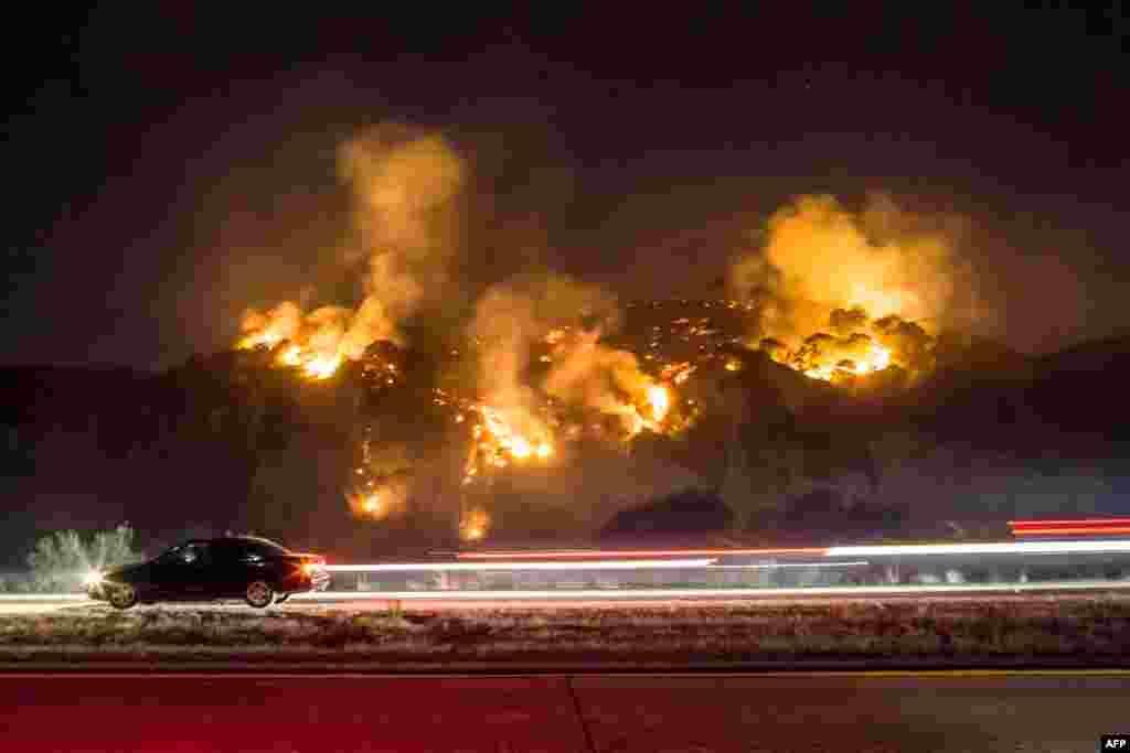 نمایی از آتش سوزی های مهیب در کالیفرنیا