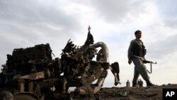 4月9日阿富汗部隊在喀布爾基地。
