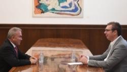Predsednik Srbije sa ambasadorom Palestine (izvor: predsednik.rs)