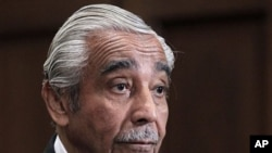 Rep. Charles Rangel, D-NY, appears on Capitol Hill in Washington, 15 Nov. 2010 before his ethics trial.