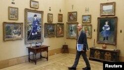 Obras del célebre pintor francés Pierre Auguste Renoir expuestas en el museo de Filadelfia.