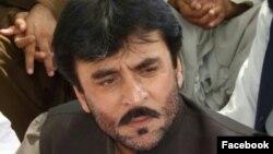 سراج ریسانی، عضو حزب عوامی بلوچستان که در حملۀ روز جمعه کشته شد.