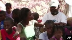 A tent city in Port-au-Prince, Haiti