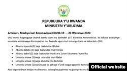 Rwanda Corona Virus