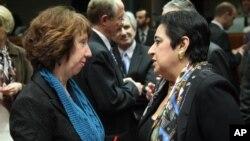 Pertemuan para Menteri Luar Negeri Uni Eropa di Brussels (foto: dok). Uni Eropa akan menawarkan kemitraan istimewa kepada Israel dan Palestina jika tercapai perdamaian.