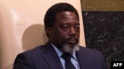 Joseph Kabila Kabange, président de la RDC, au siège des Nations Unies à New York, le 23 septembre 2017.