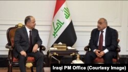 Le Premier ministre irakien Adel Abdel Mahdi en entretien avec le leader Kurde Barzani