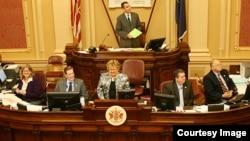 미국 버지니아 주 의회에서 전체회의가 열리고 있다. 사진 출처: 주의회 웹사이트. (자료사진)