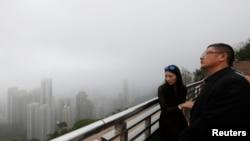 中國大陸旅客在香港遊覽