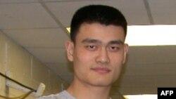 美国休斯顿火箭队的中国球星姚明(资料照片)