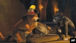"""Antonio Banderas gives voice to the furry feline in """"Puss in Boots."""""""