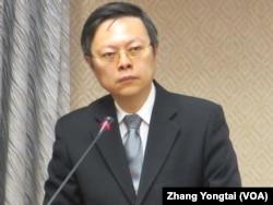 台湾陆委会主委王郁琦(美国之音张永泰拍摄)