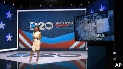 Eva Longoria, moderator pada malam pertama Konvensi Nasional Partai Demokrat, Senin, 17 Agustus 2020. (Konvensi Nasional Partai Demokrat melalui AP).