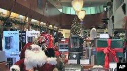 纽约的一家圣诞礼品专卖店