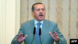 Thủ tướng Thổ Nhĩ Kỳ Recep Tayyip Erdogan phát biểu ở Istanbul, 17/8/2011