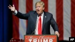 Bakal Capres Partai Republik, Donald Trump dalam kampanye di kota Grand Rapids, Michigan (21/12).