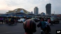 Urbanisasi meningkat pesat di Phnom Penh, Kamboja. (Foto: Dok)