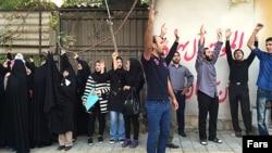 تجمع مقابل سفارت عربستان سعودی در تهران