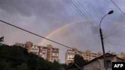 Радуга над Кишиневом. Молдова. 31 мая 2010 года