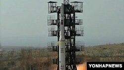 Запуск ракеты КНДР. Архивное фото.