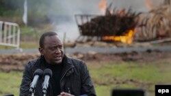 Rais wa Kenya, Uhuru Kenyatta.