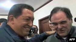 Venecuelanski predsednik Ugo Čavez i reditelj Oliver Stoun