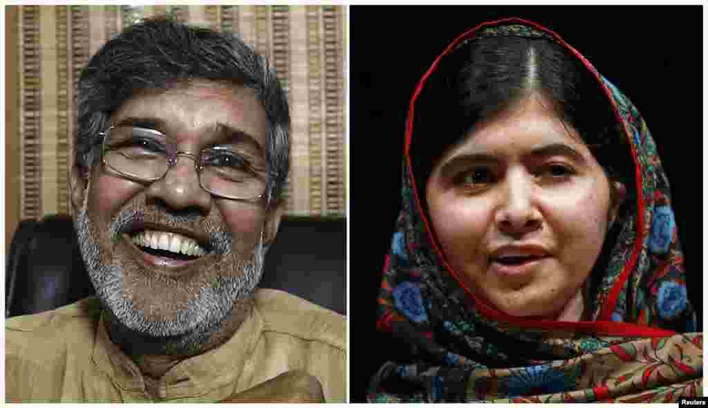 پاکستانی طالبہ ملالہ یوسفزئی اور بھارت کے کیلاش ستیارتھی نے مشترکہ طور پر امن کا نوبیل انعام 2014ء جیتا۔