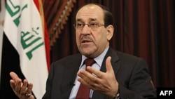 Thủ tướng Iraq Nouri al-Maliki trả lời phỏng vấn với hãng tin AP tại Baghdad hôm thứ Bảy., ngày 3/12/2011