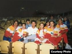 薛荫娴曾经想守住国家体操队不受兴奋剂毒害,最终也没能守住。(受访者提供)