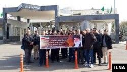 تجمع کارگران مخازن تحت فشار کاوش در مقابل استانداری قزوین