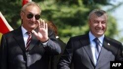 Лидеры Абхазии и Южной Осетии Сергей Багапш и Эдуард Кокойты