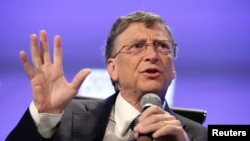 Bill Gates durante la cumbre Fiscal del Peterson Institute 2013 en Washington. Mayo 7, 2013. REUTERS/Yuri Gripas.