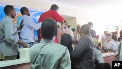 Wakilan Majalisar wakilan kasar Somaliya, a cikin zauren Majalisar