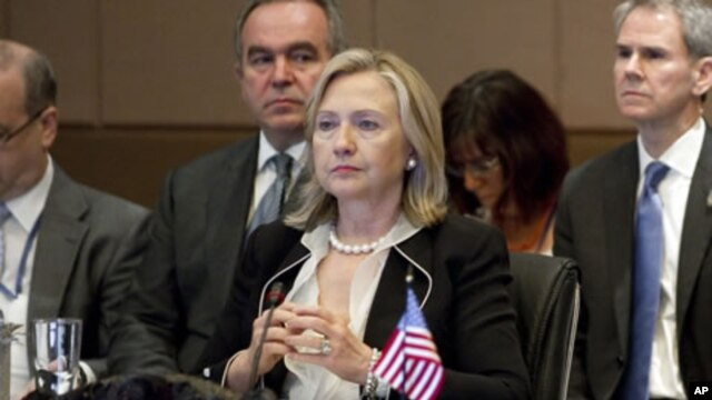 U.S. Secretary of State Hillary Rodham Clinton attends the Association of Southeast Asian Nations (ASEAN) Ministerial Meeting in Indonesia, July 22, 2011