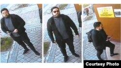 지난 2월 스페인 주재 북한대사관에 들어갈 때 CCTV에 찍힌 크리스토퍼 안. 안 씨의 변호사가 미 연방법원에 제출한 보석 재심신청서에 첨부한 사진이다.