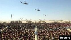 지난 2003년 3월 이라크전 참전을 위해 파병된 영국군 병력이 작전 투입에 앞서 쿠웨이트에 대기하고 있다. (자료사진)