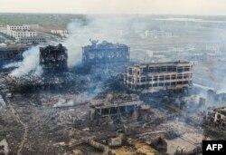 江苏省化工厂爆炸事故现场航拍图(2019年3月22日)