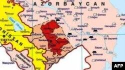 Münaqişə regionunun xəritəsi