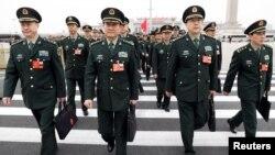 Lãnh đạo Bộ Quốc phòng Trung Quốc dự kỳ họp Quốc hội hôm 4/3/2018.